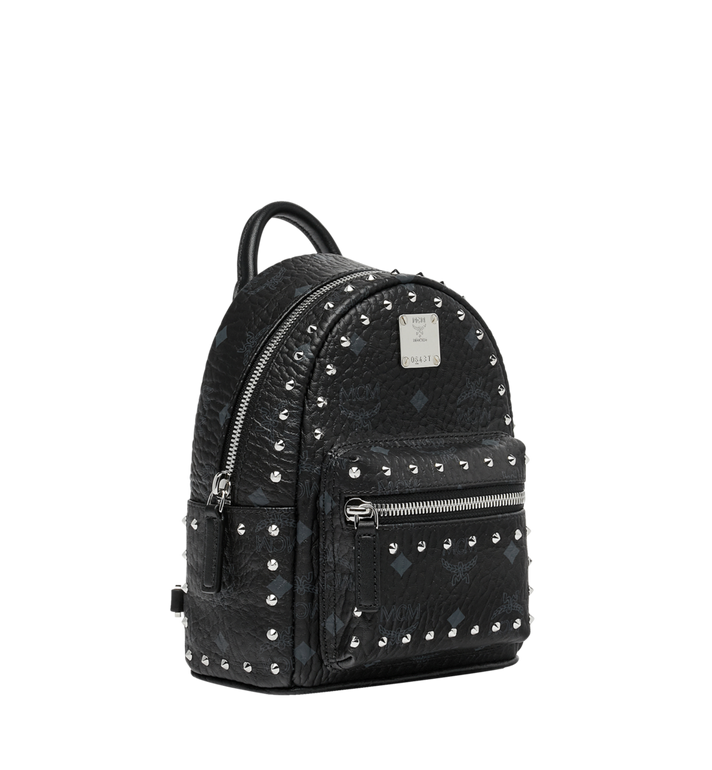 MCM Stark Bebe Boo Backpack in Studded Outline Visetos Black MMK8AVE04BK001 Alternate View 2