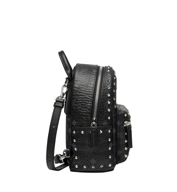 MCM Stark Bebe Boo Backpack in Studded Outline Visetos Black MMK8AVE04BK001 Alternate View 3