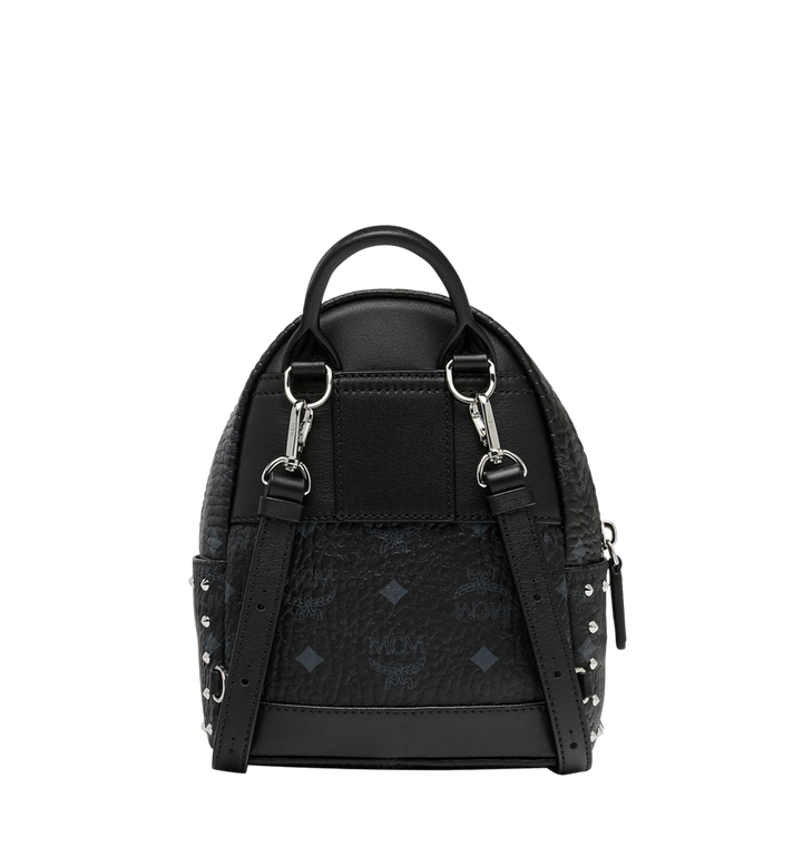 MCM Stark Bebe Boo Backpack in Studded Outline Visetos Black MMK8AVE04BK001 Alternate View 5