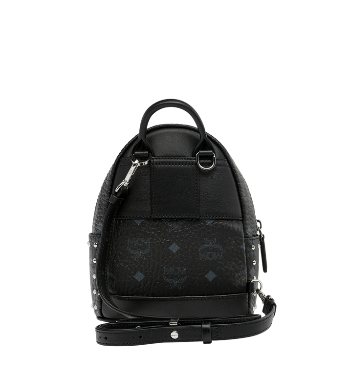MCM Stark Bebe Boo Backpack in Studded Outline Visetos Black MMK8AVE04BK001 Alternate View 6