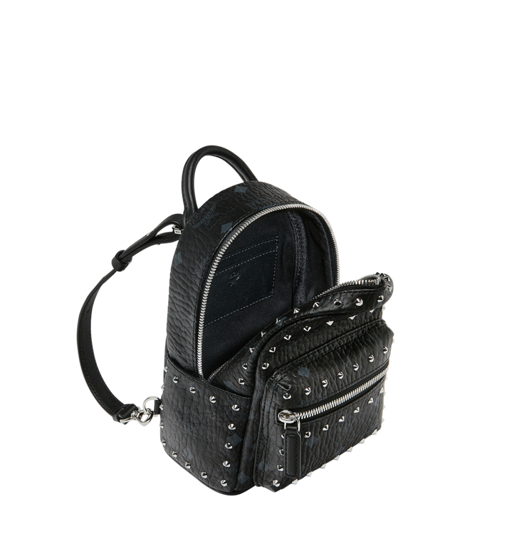 MCM Stark Bebe Boo Backpack in Studded Outline Visetos Black MMK8AVE04BK001 Alternate View 7
