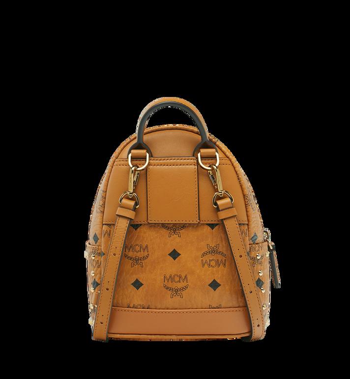 MCM Stark Bebe Boo Backpack in Studded Outline Visetos Cognac MMK8AVE04CO001 Alternate View 5