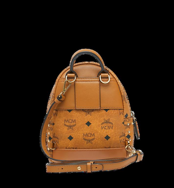 MCM Stark Bebe Boo Backpack in Studded Outline Visetos Cognac MMK8AVE04CO001 Alternate View 6