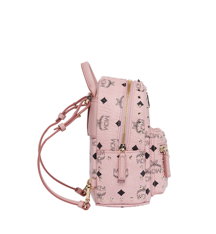 MCM Stark Bebe Boo Backpack in Studded Outline Visetos Pink MMK8AVE04PZ001 Alternate View 4