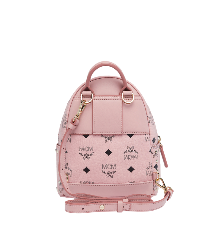 MCM Stark Bebe Boo Backpack in Studded Outline Visetos Pink MMK8AVE04PZ001 Alternate View 6