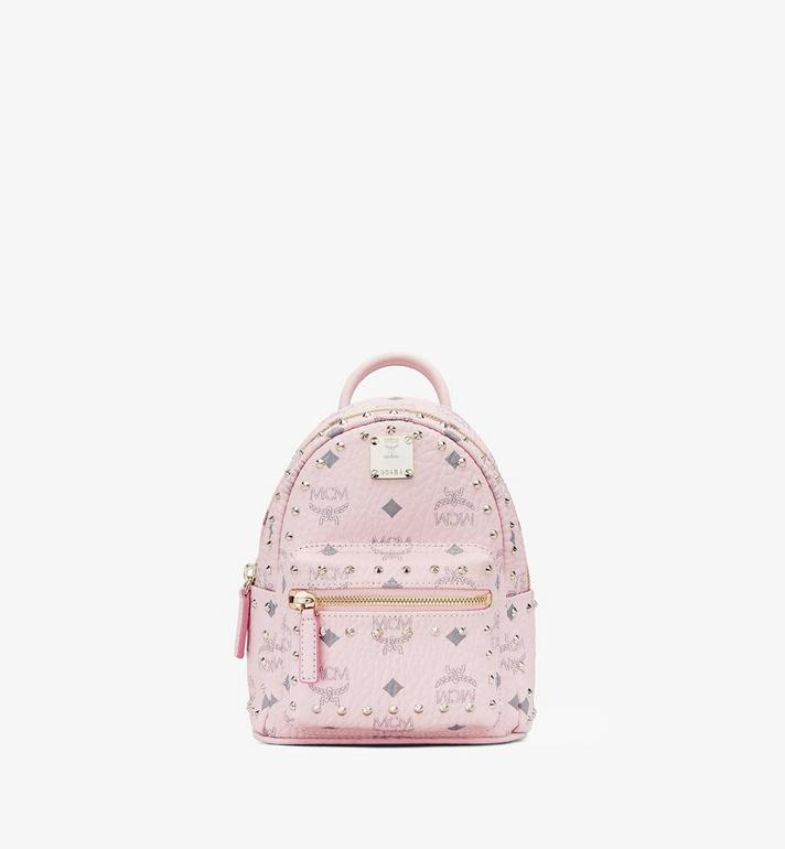 MCM Stark Bebe Boo Visetos 鉚釘後背包 Pink MMK8AVE04QH001 Alternate View 1