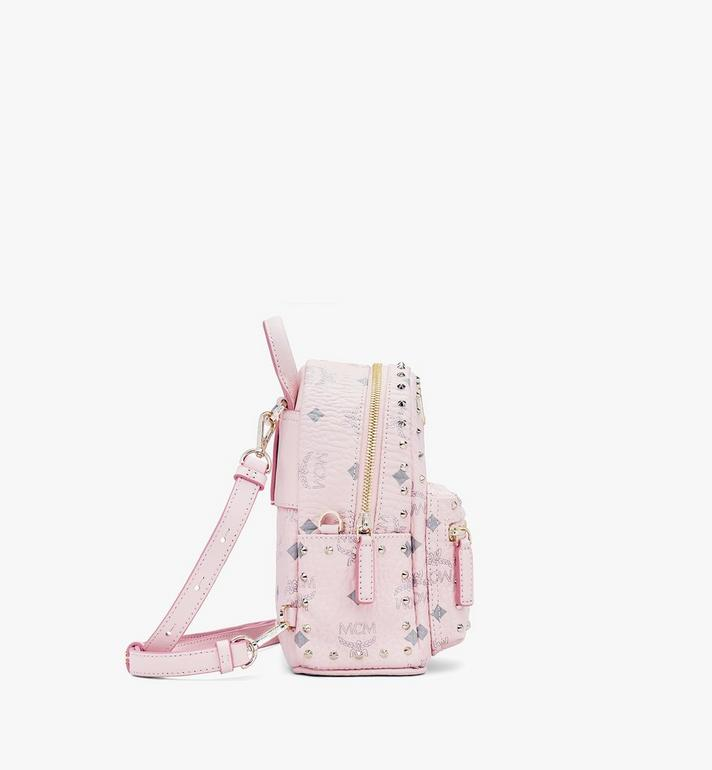 MCM Stark Bebe Boo Visetos 鉚釘後背包 Pink MMK8AVE04QH001 Alternate View 2