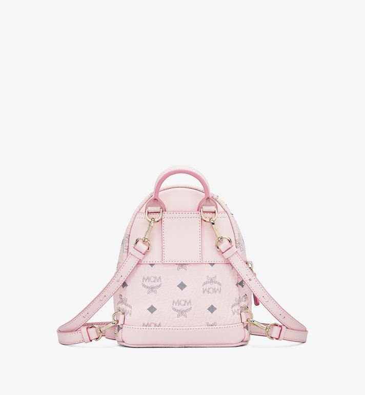 MCM Stark Bebe Boo Visetos 鉚釘後背包 Pink MMK8AVE04QH001 Alternate View 3