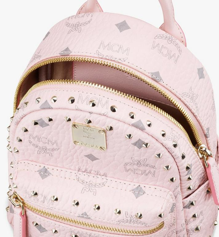 MCM Stark Bebe Boo Visetos 鉚釘後背包 Pink MMK8AVE04QH001 Alternate View 4