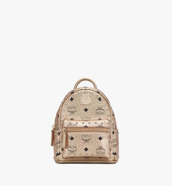 MCM Stark Bebe Boo Backpack in Studded Visetos Alternate View