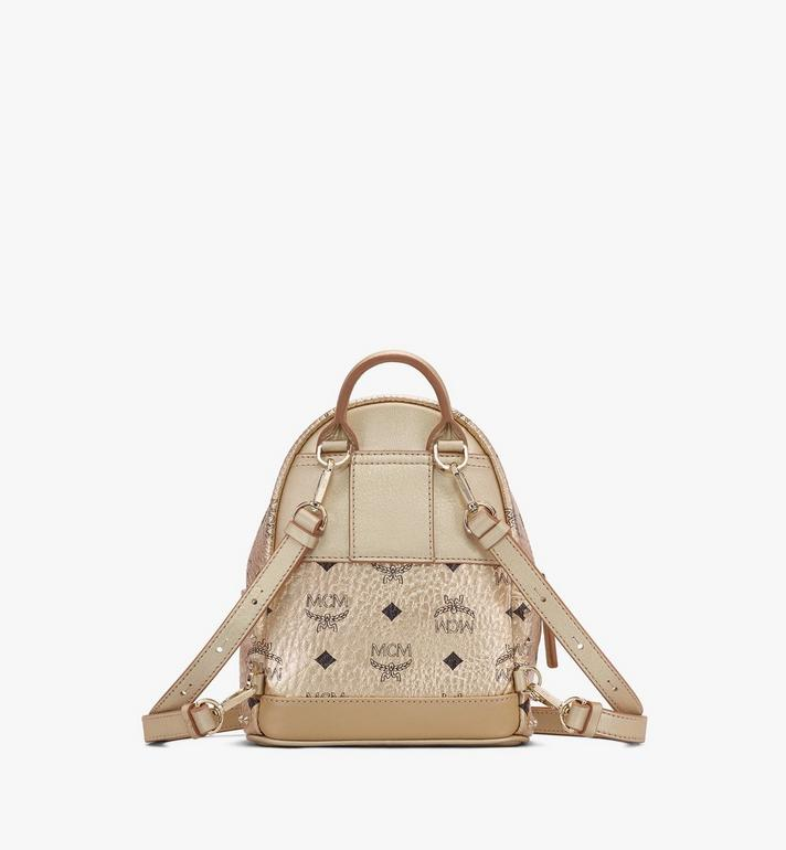 MCM Stark Bebe Boo Backpack in Studded Visetos Gold MMK8AVE05T1001 Alternate View 3