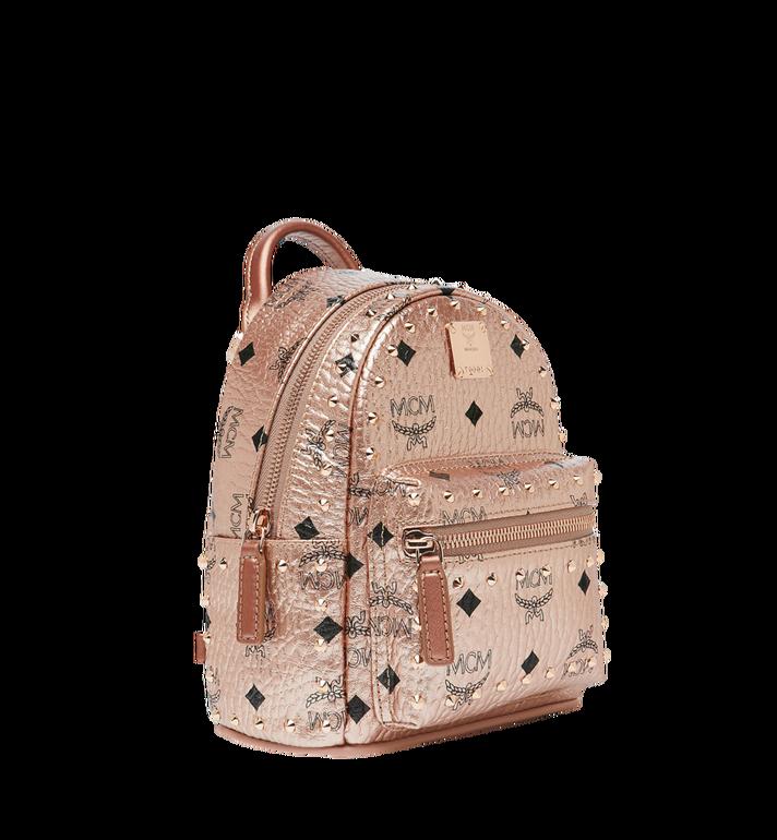 MCM Stark Bebe Boo Backpack in Studded Outline Visetos Gold MMK8AVE05TC001 Alternate View 2