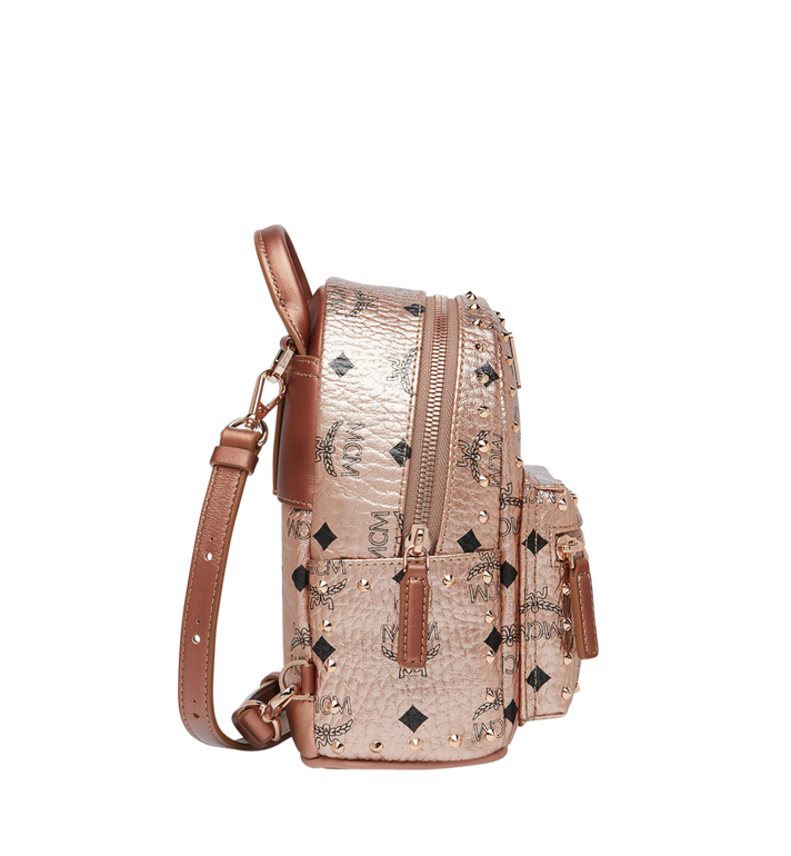 MCM Stark Bebe Boo Backpack in Studded Outline Visetos Gold MMK8AVE05TC001 Alternate View 3