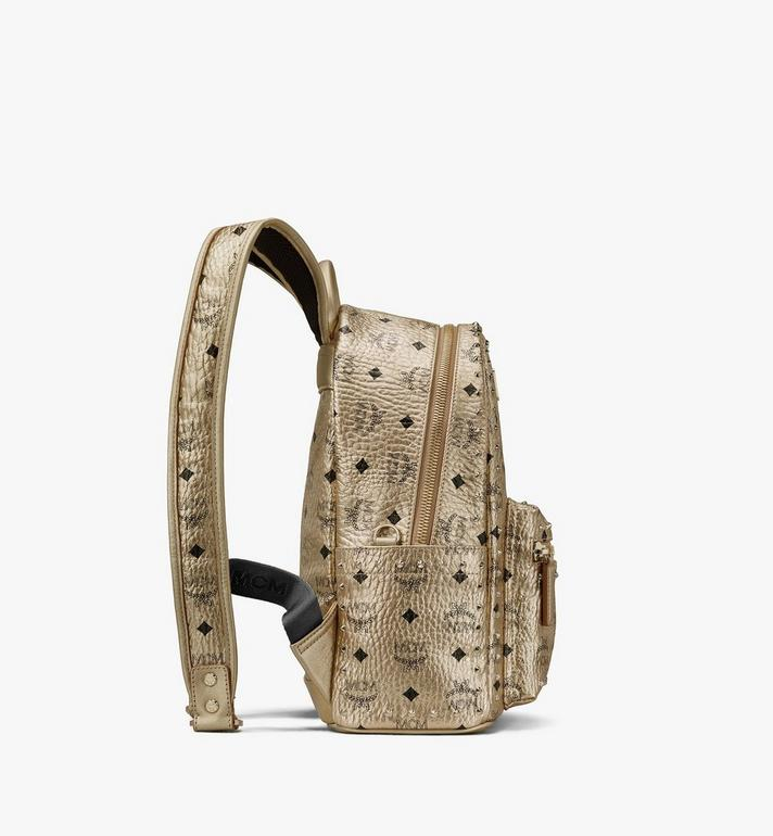 MCM Stark Backpack in Studded Visetos Gold MMK8AVE40T1001 Alternate View 2