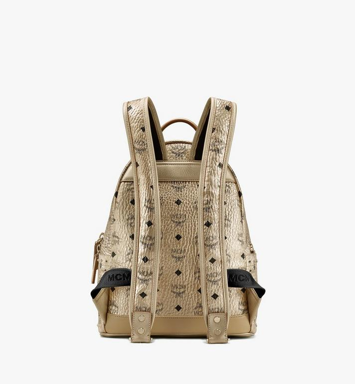 MCM Stark Backpack in Studded Visetos Gold MMK8AVE40T1001 Alternate View 3