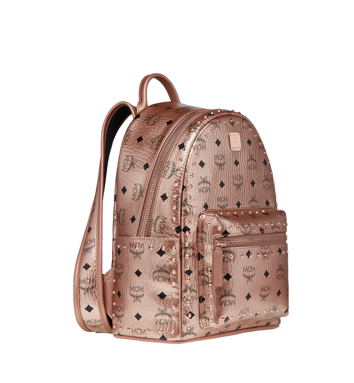 MCM Stark Backpack in Studded Outline Visetos Gold MMK8AVE40TC001 Alternate View 2