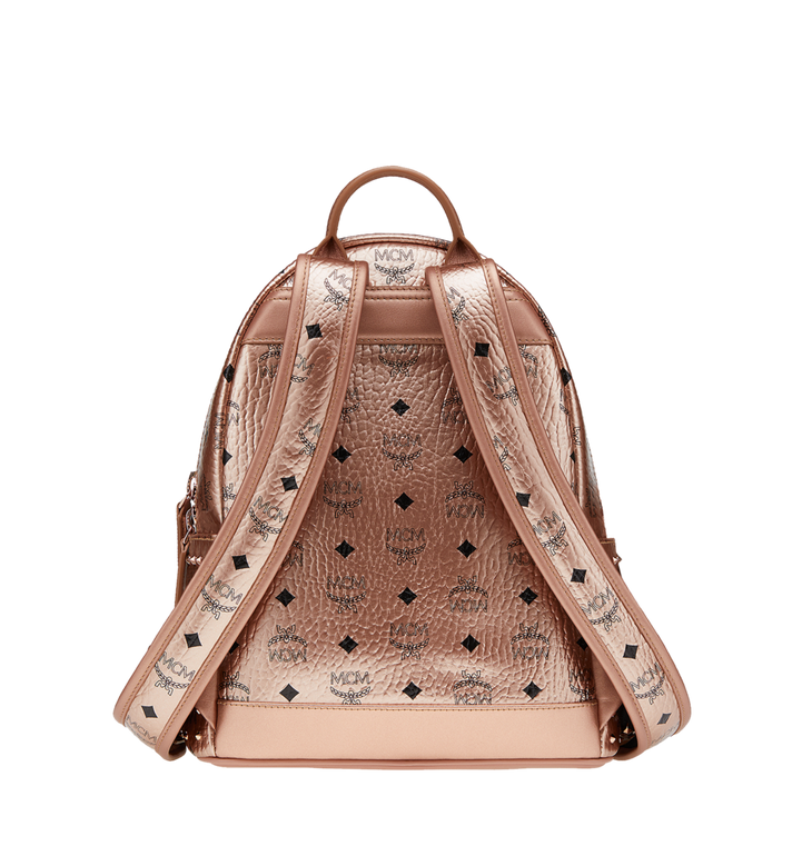 MCM Stark Backpack in Studded Outline Visetos Gold MMK8AVE40TC001 Alternate View 4
