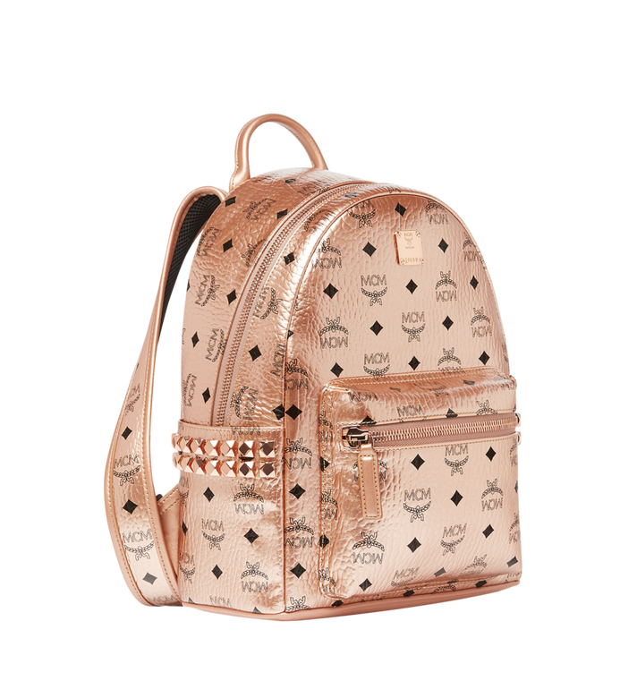 MCM Stark Side Studs Backpack in Visetos Gold MMK8AVE43TC001 Alternate View 2