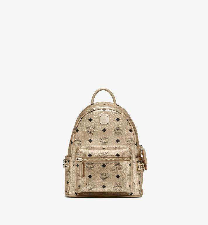 MCM Stark Backpack in Visetos Gold MMK8AVE47T1001 Alternate View 1