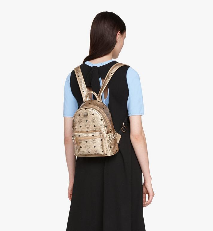 MCM Stark Backpack in Visetos Gold MMK8AVE47T1001 Alternate View 5
