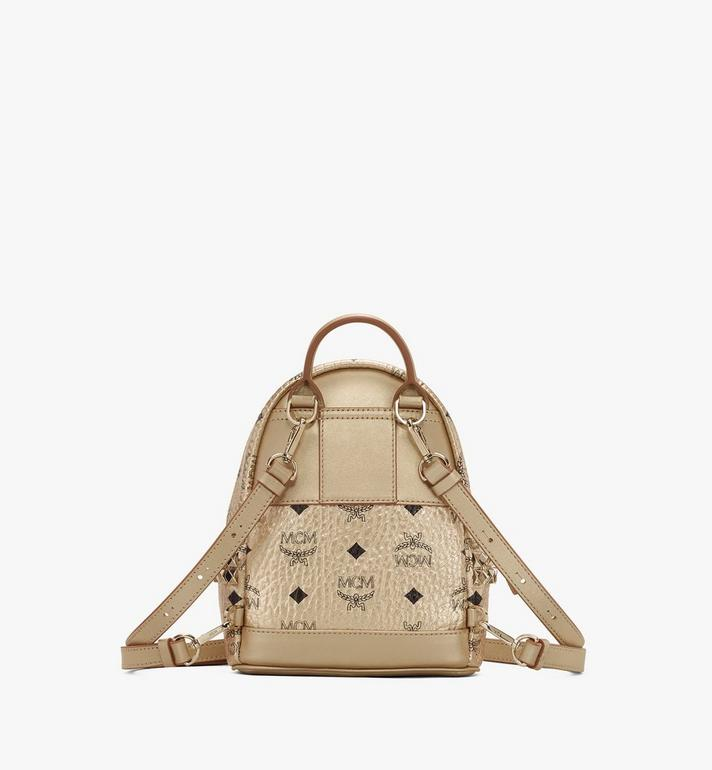 MCM Stark Bebe Boo Backpack in Visetos Gold MMK8AVE50T1001 Alternate View 3