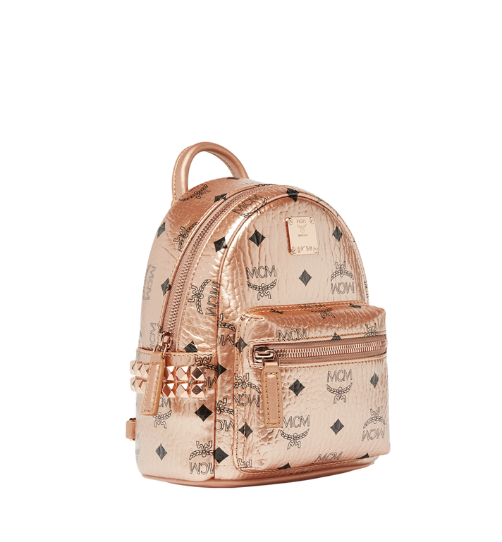MCM Stark Bebe Boo Backpack in Visetos Gold MMK8AVE50TC001 Alternate View 2