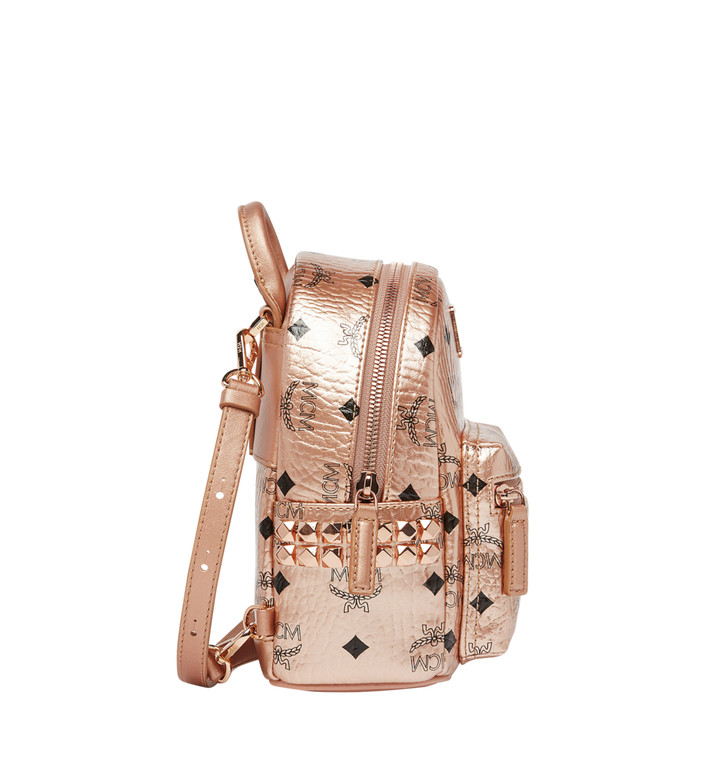 MCM Stark Bebe Boo Backpack in Visetos Gold MMK8AVE50TC001 Alternate View 3