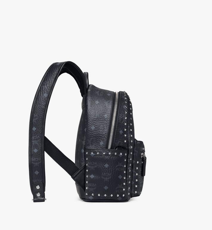MCM Stark Backpack in Studded Outline Visetos Black MMK8AVE61BK001 Alternate View 2