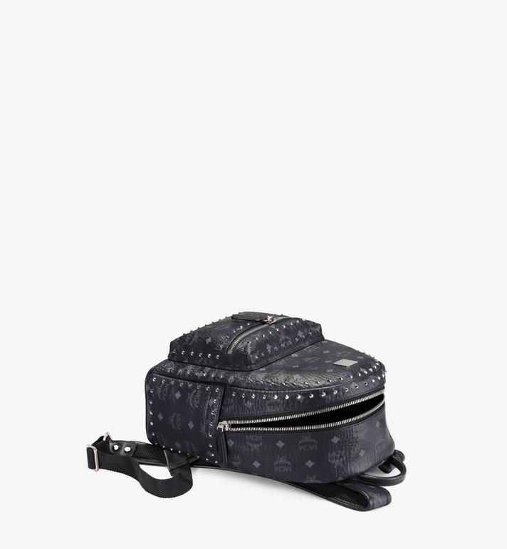 MCM Stark Backpack in Studded Outline Visetos Black MMK8AVE61BK001 Alternate View 3