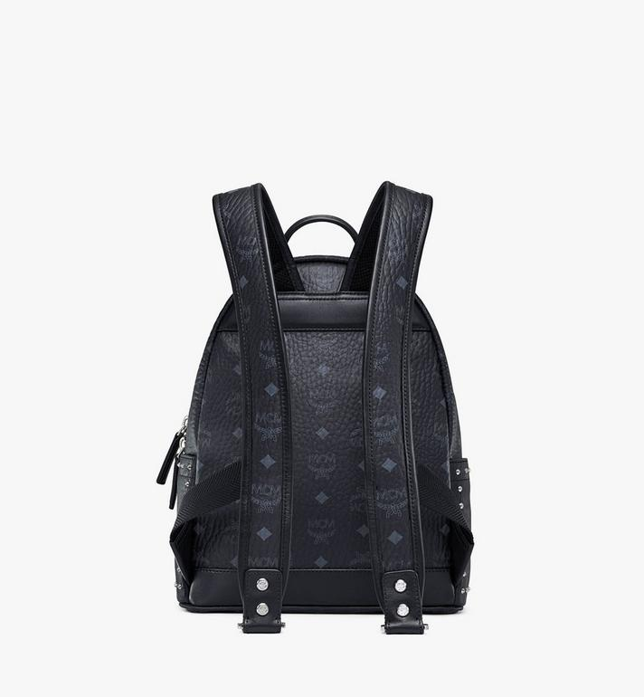 MCM Stark Visetos 帶鉚釘輪廓雙肩背包 Black MMK8AVE61BK001 Alternate View 4