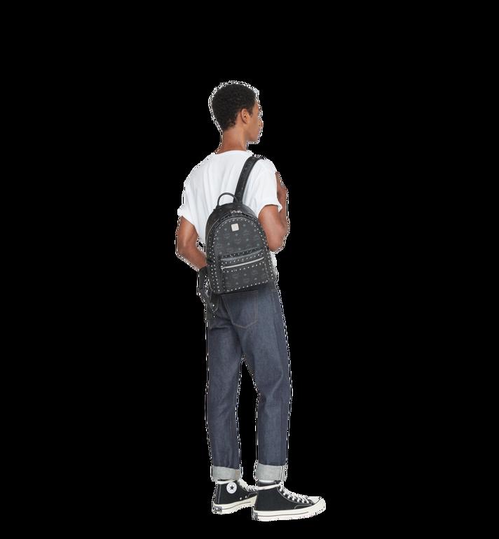 MCM Stark Backpack in Studded Outline Visetos Black MMK8AVE61BK001 Alternate View 7