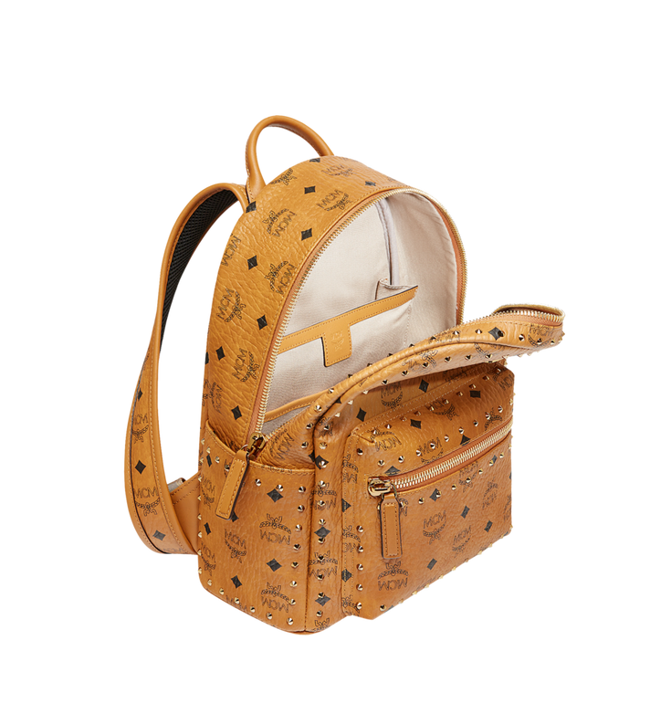 MCM Stark Backpack in Studded Outline Visetos Cognac MMK8AVE61CO001 Alternate View 5