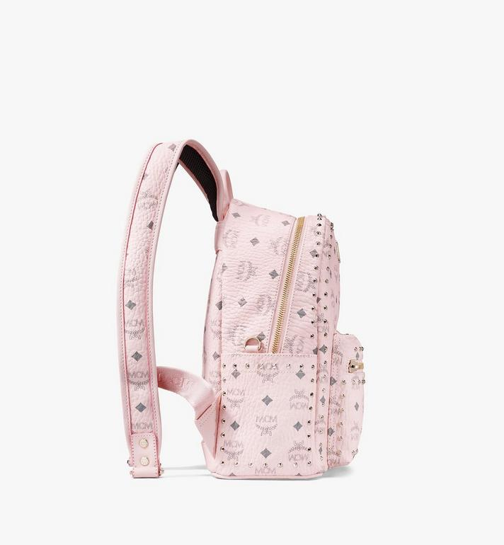 MCM Stark Backpack in Studded Visetos Pink MMK8AVE61QH001 Alternate View 2