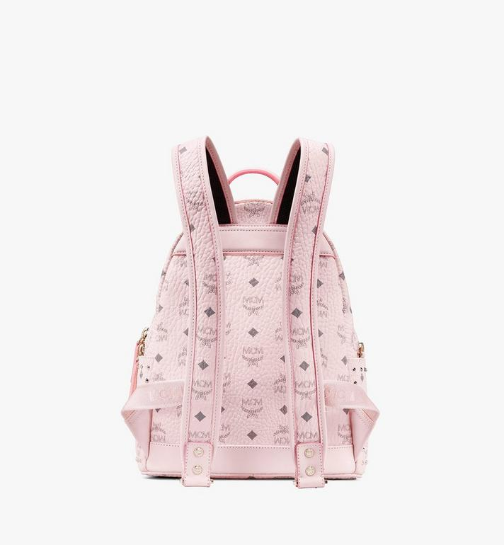 MCM Stark Backpack in Studded Visetos Pink MMK8AVE61QH001 Alternate View 3