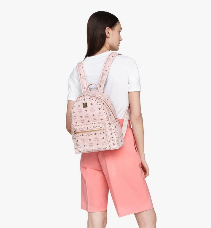MCM Stark Backpack in Studded Visetos Pink MMK8AVE61QH001 Alternate View 5
