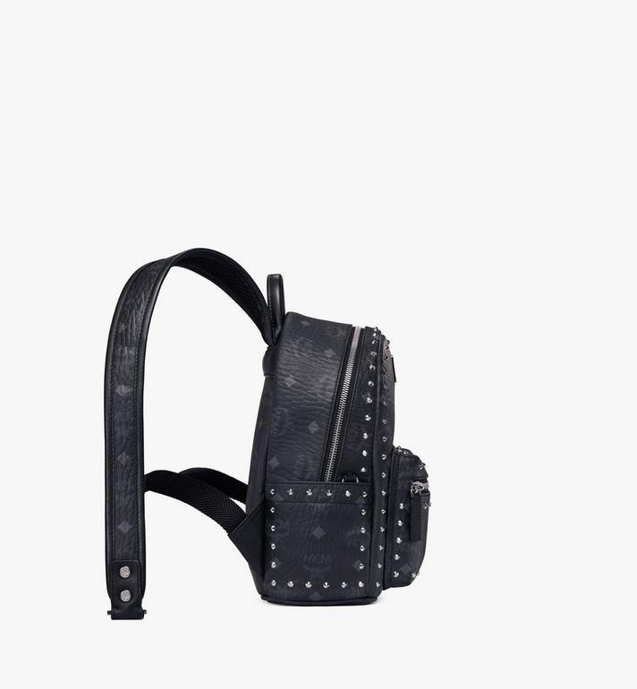 MCM Stark Backpack in Studded Outline Visetos Black MMK8AVE62BK001 Alternate View 2