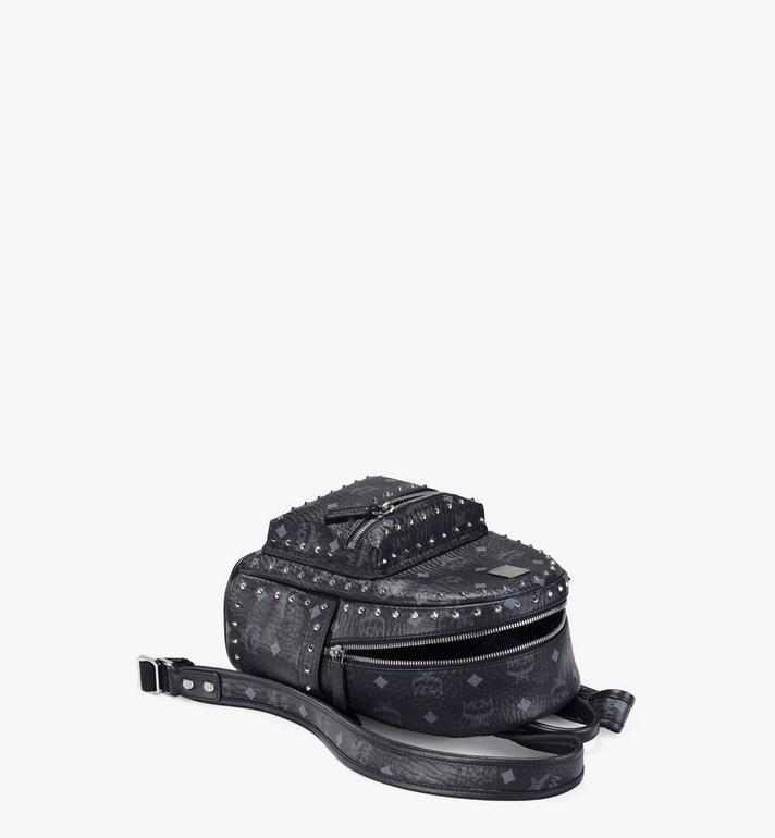 MCM Stark Visetos 帶鉚釘輪廓雙肩背包 Black MMK8AVE62BK001 Alternate View 3