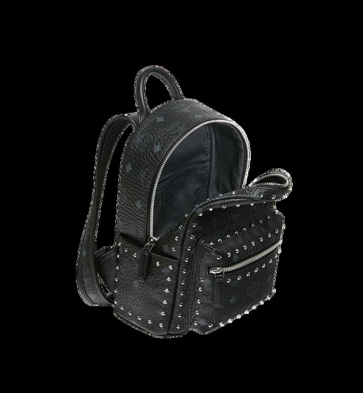 MCM Stark Visetos 帶鉚釘輪廓雙肩背包 Black MMK8AVE62BK001 Alternate View 5