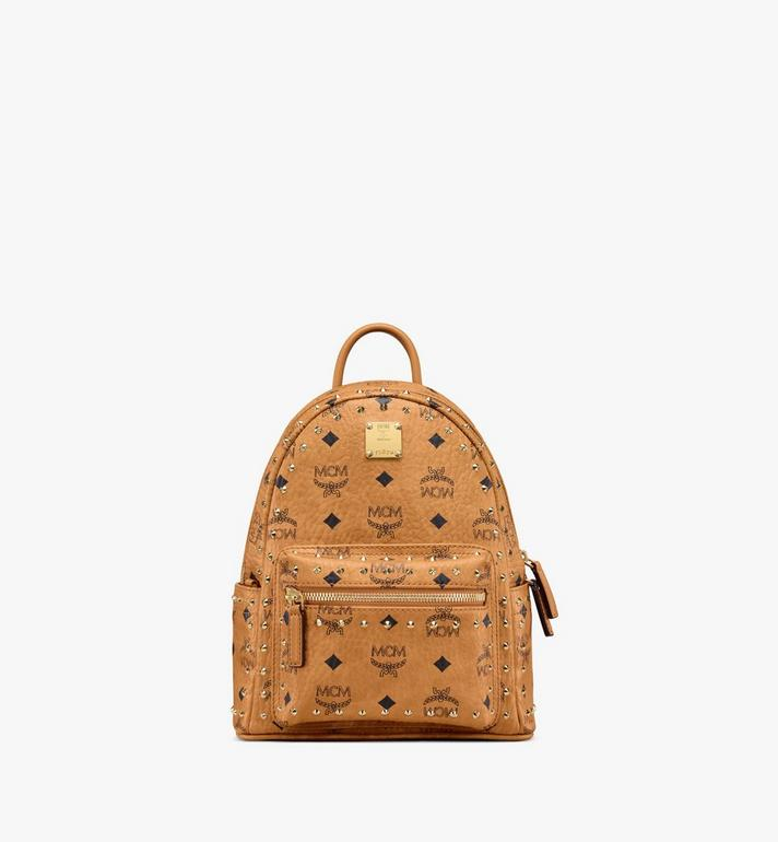 MCM Stark Backpack in Studded Outline Visetos Alternate View