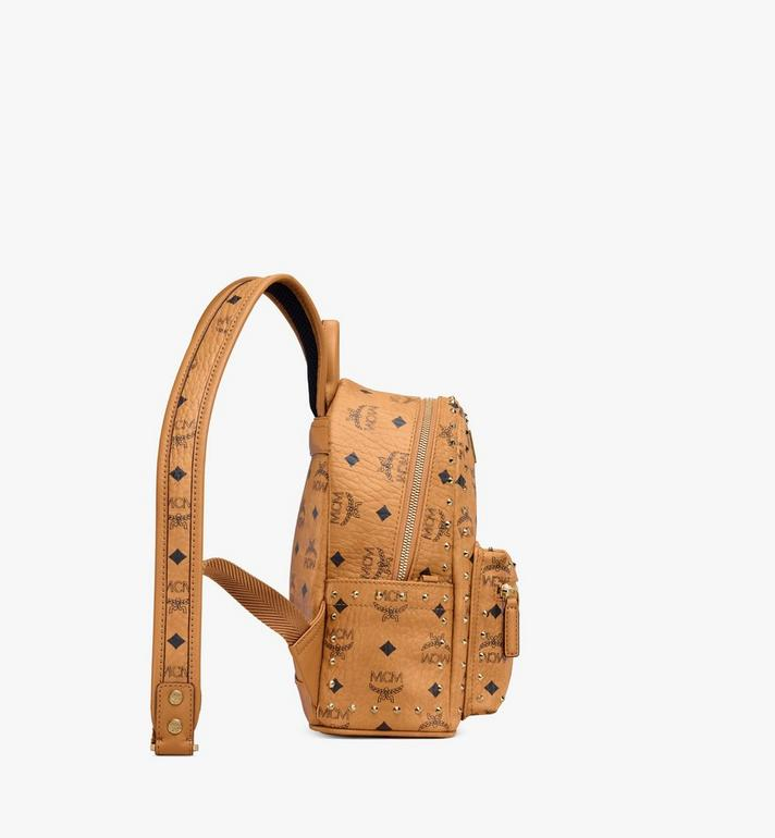 MCM Stark Backpack in Studded Outline Visetos Cognac MMK8AVE62CO001 Alternate View 2