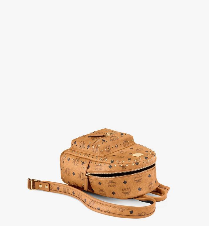 MCM Stark Backpack in Studded Outline Visetos Cognac MMK8AVE62CO001 Alternate View 3