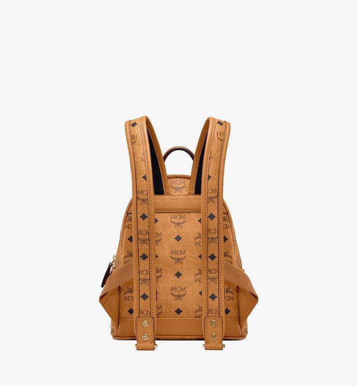 MCM Stark Backpack in Studded Outline Visetos Cognac MMK8AVE62CO001 Alternate View 4