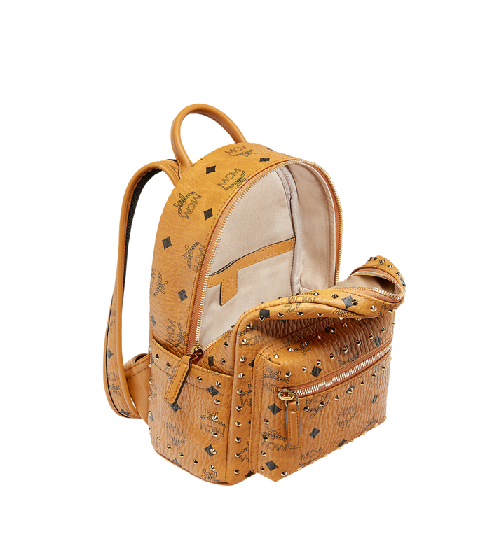 MCM Stark Backpack in Studded Outline Visetos Cognac MMK8AVE62CO001 Alternate View 5