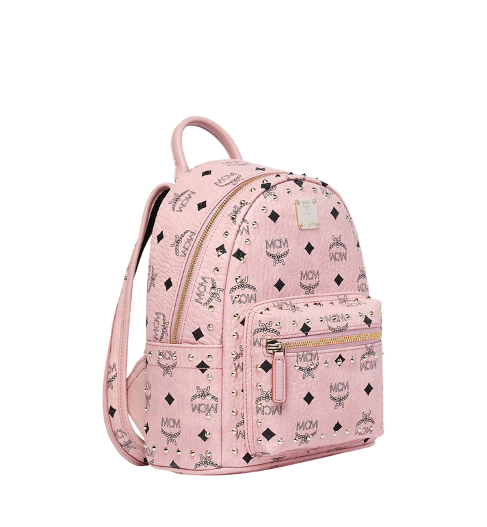 MCM Stark Backpack in Studded Outline Visetos Pink MMK8AVE62PZ001 Alternate View 2