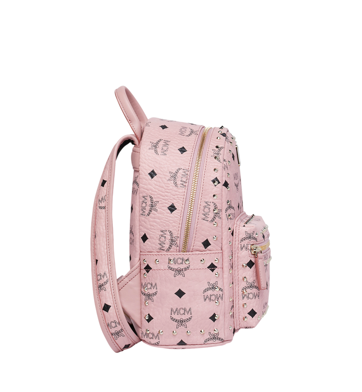 MCM Stark Backpack in Studded Outline Visetos Pink MMK8AVE62PZ001 Alternate View 3