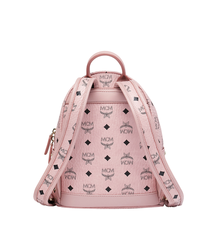 MCM Stark Backpack in Studded Outline Visetos Pink MMK8AVE62PZ001 Alternate View 4