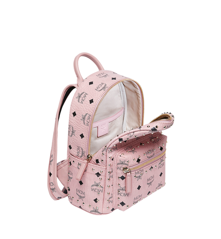 MCM Stark Backpack in Studded Outline Visetos Pink MMK8AVE62PZ001 Alternate View 5
