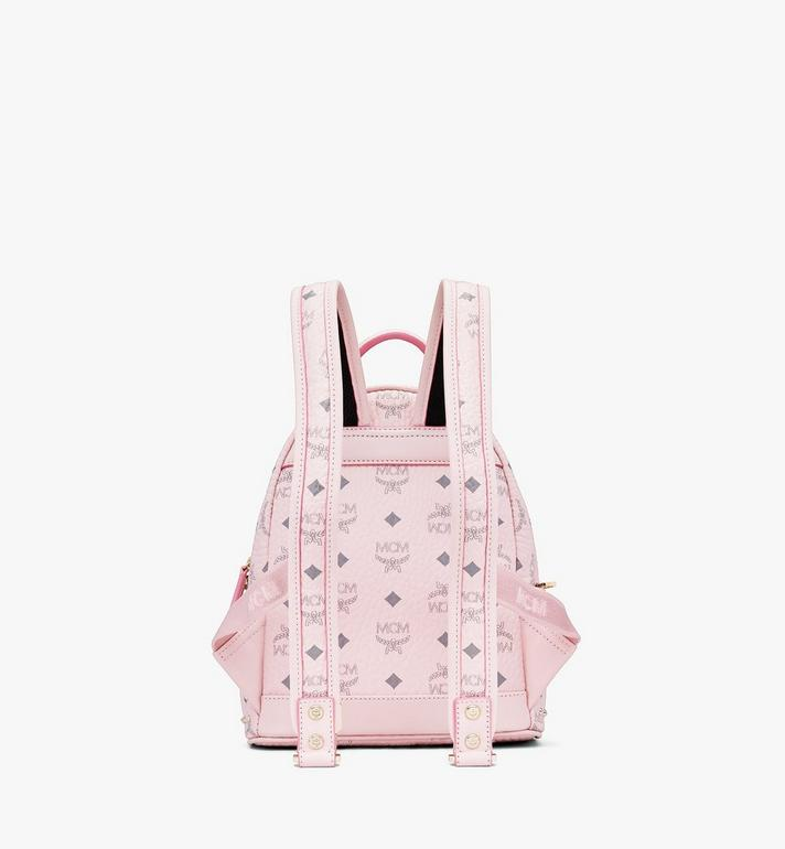 MCM Visetos 皮革的 Stark 鉚釘後背包 Pink MMK8AVE62QH001 Alternate View 3