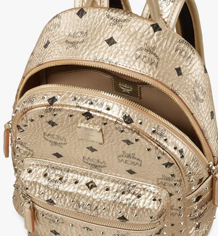 MCM Stark Backpack in Studded Visetos Gold MMK8AVE66T1001 Alternate View 4
