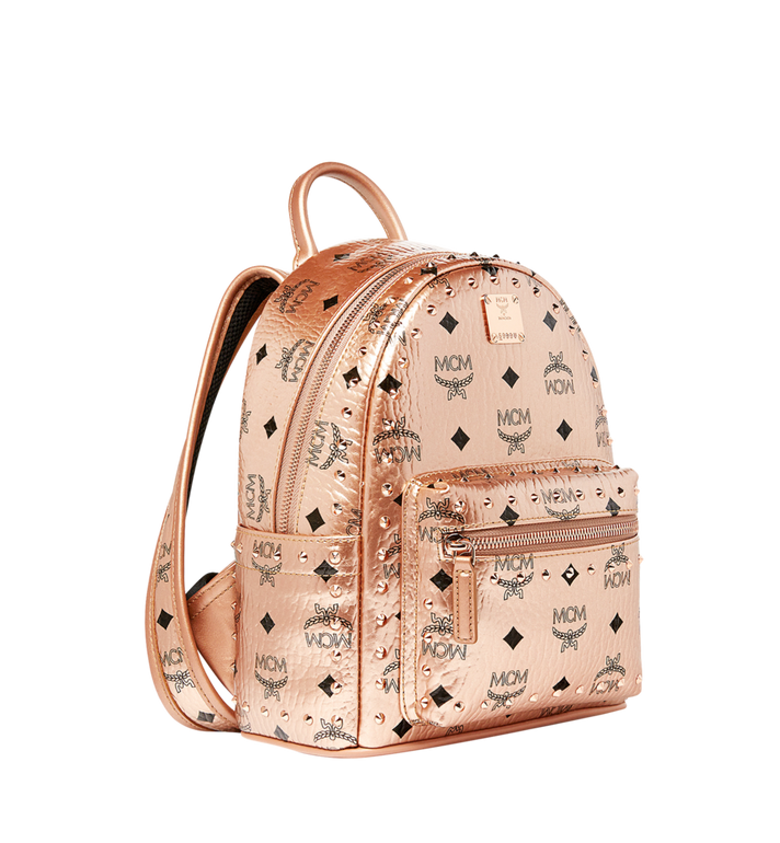 MCM Stark Backpack in Studded Outline Visetos Gold MMK8AVE66TC001 Alternate View 2